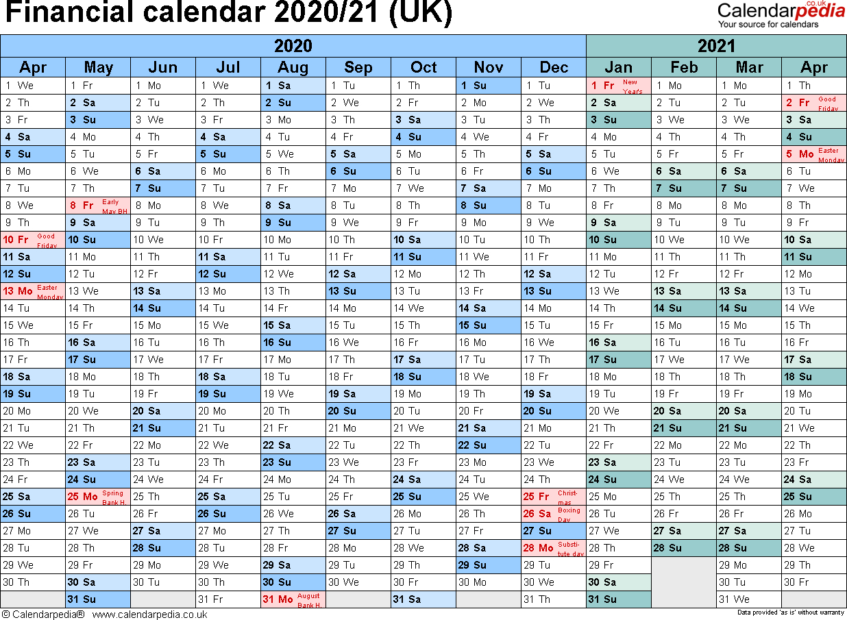 Financial Year Calendar 2020 - Wpa.wpart.co