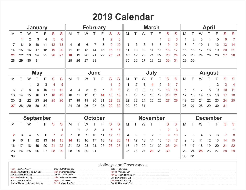 Fine 8 X 10 Printable Calendar : Mini Calendar Template