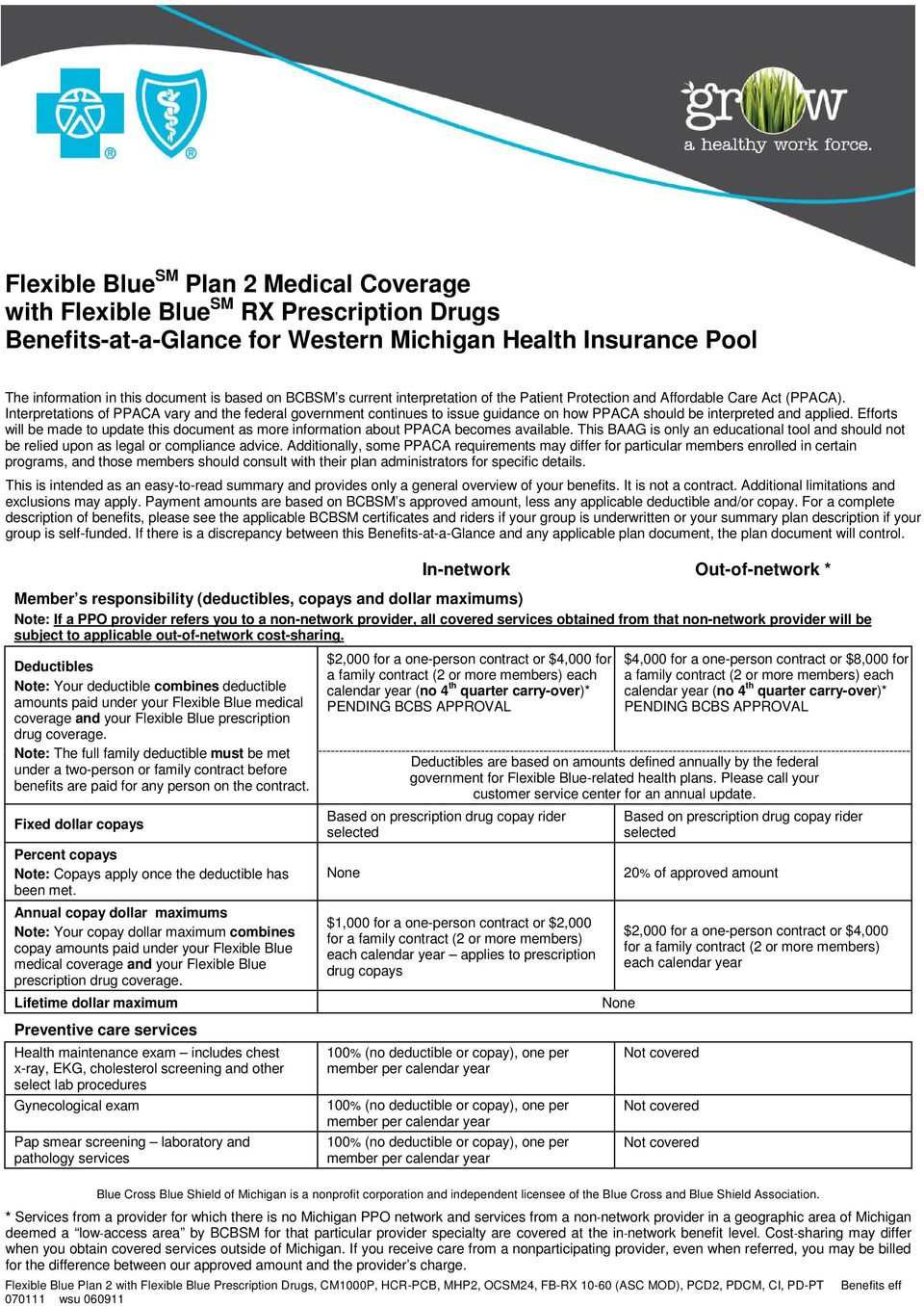 Flexible Blue Sm Plan 2 Medical Coverage With Flexible Blue