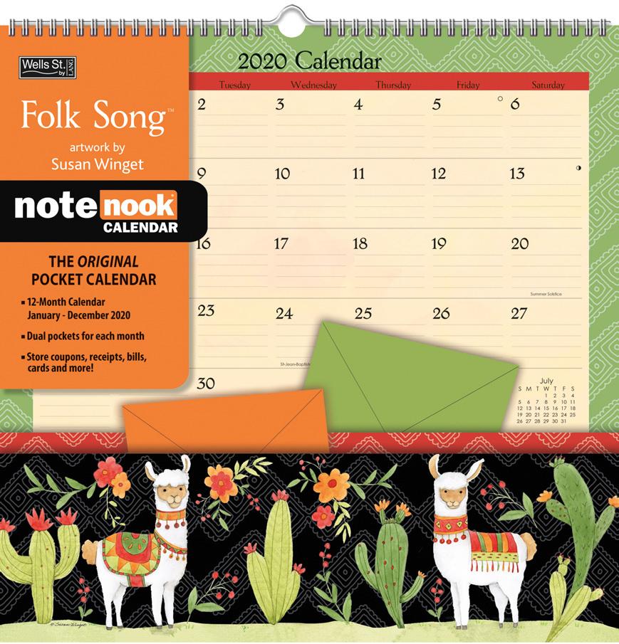 Folk Song 2020 Note Nook Pocket Calendar