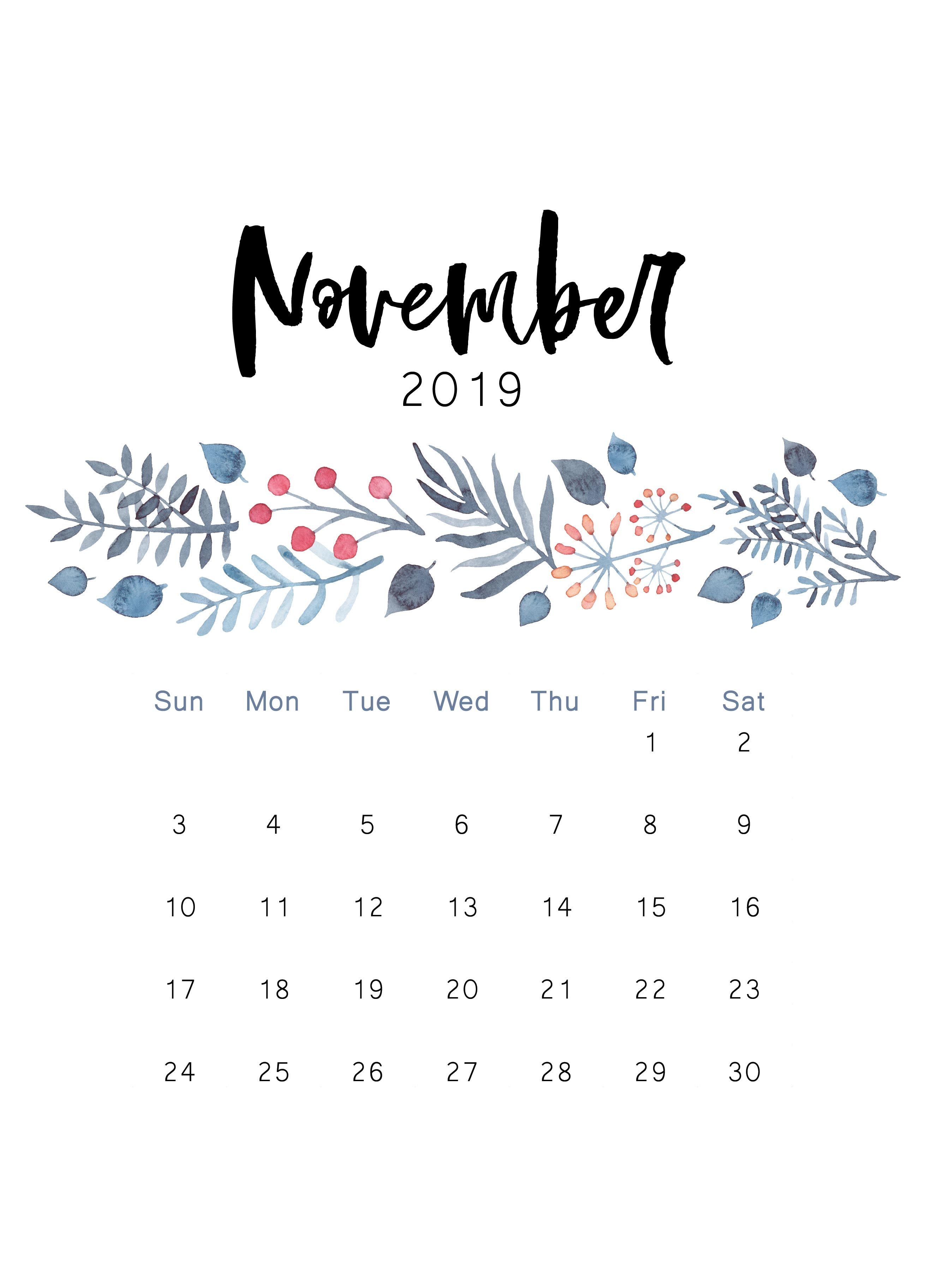 Free 2019 Printable Calendar | Календарь, Печатные Календари