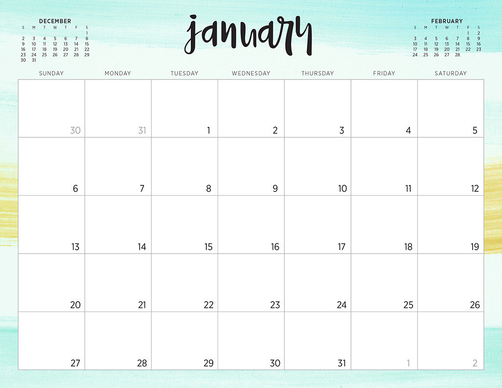Free 2019 Printable Calendars - 46 Designs To Choose From!