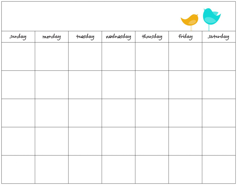 Free Blank Calendar Maker - Wpa.wpart.co