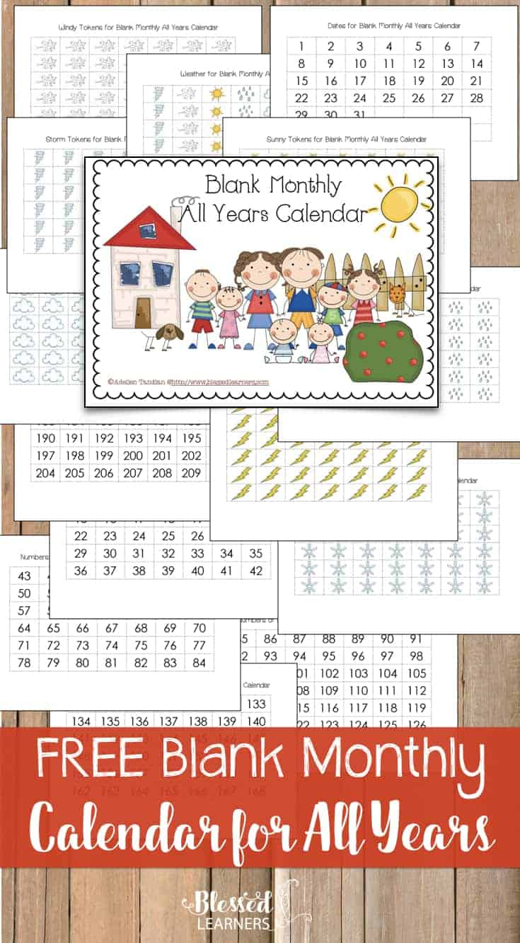 Free Blank Monthly Calendar Printable For All Years.001