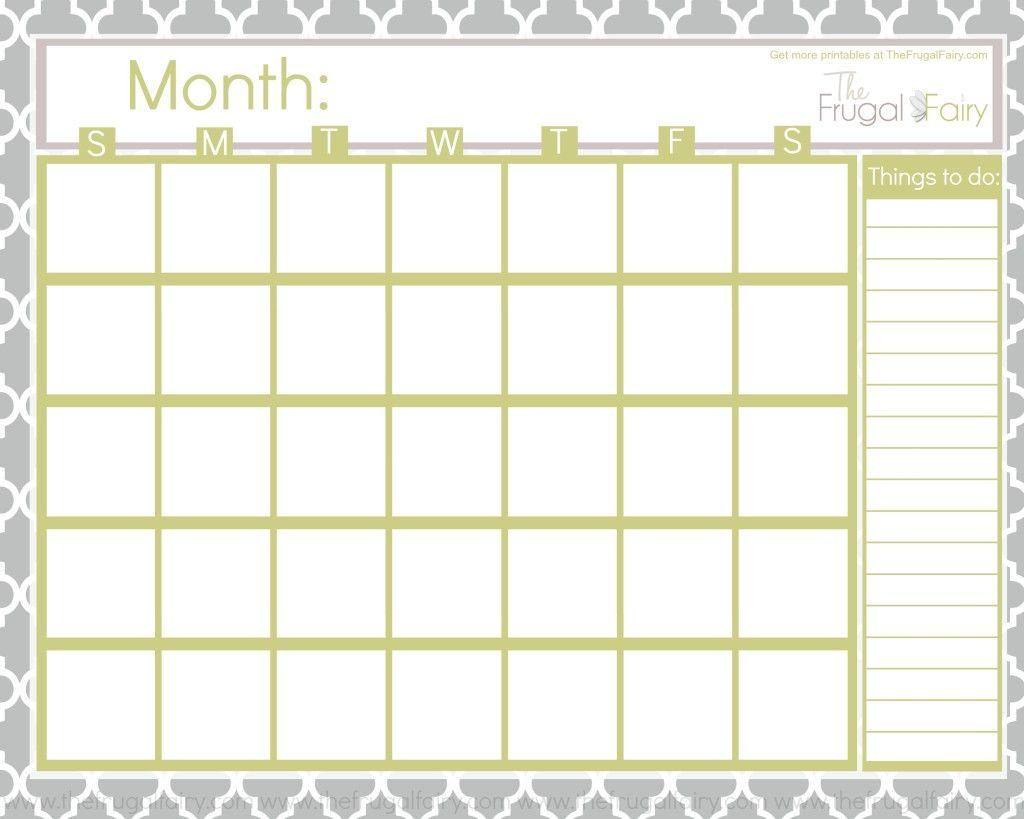 Free Blank Printable Calendar | Printable Blank Calendar