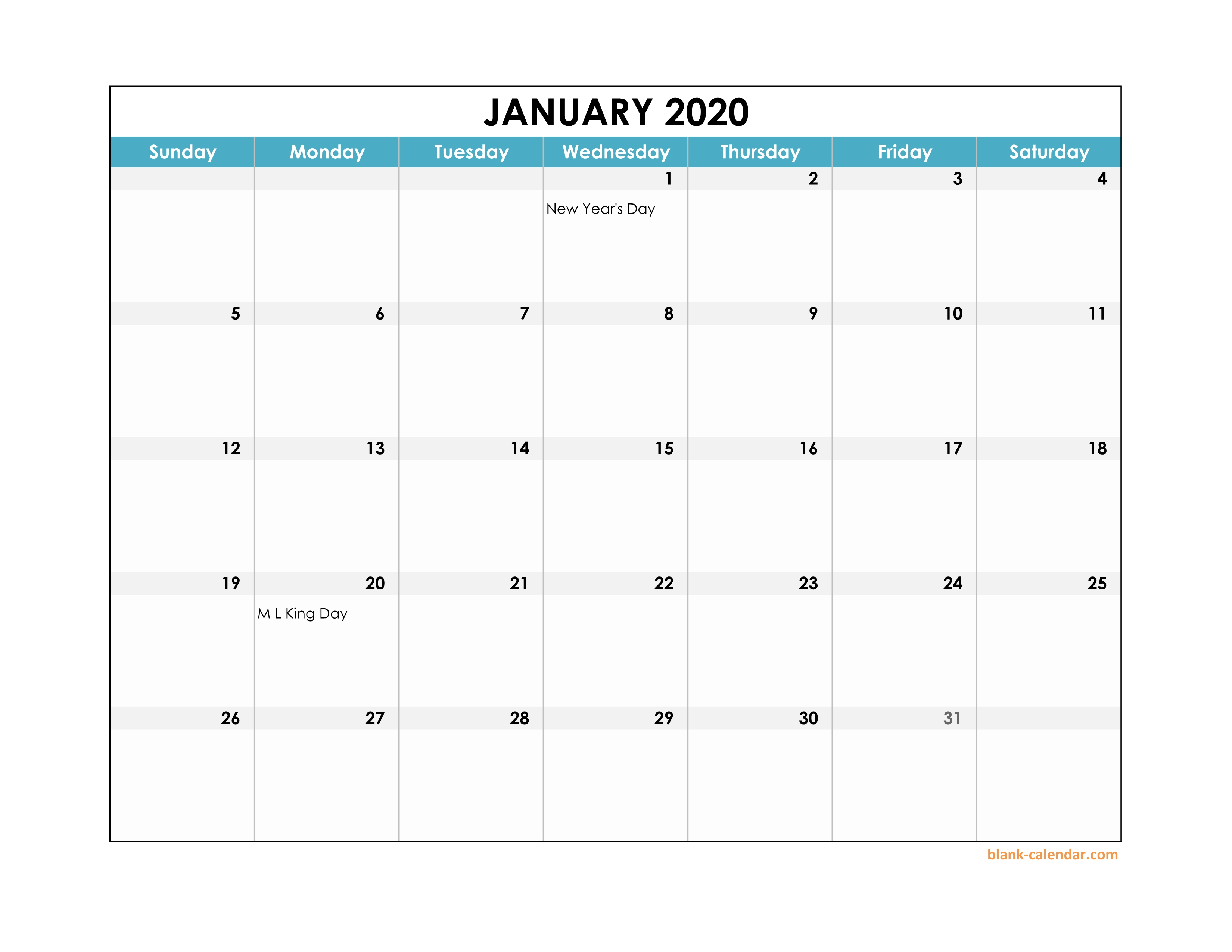 Free Calendar Template 2020 Excel - Wpa.wpart.co