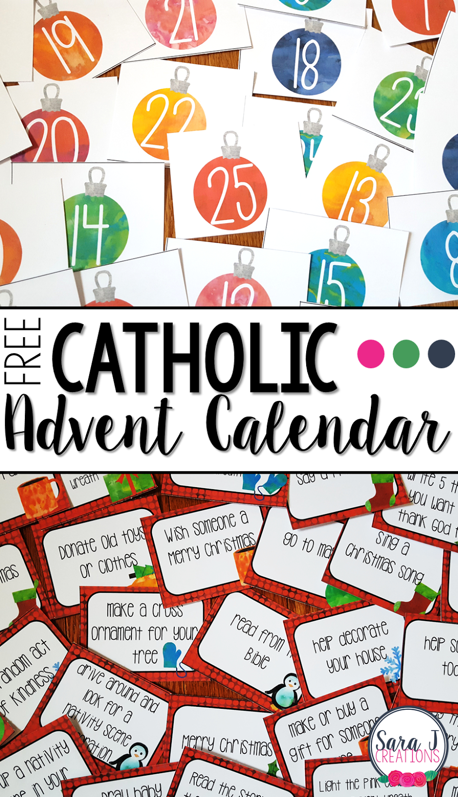 Free Catholic Advent Calendar | Advent Calendars For Kids