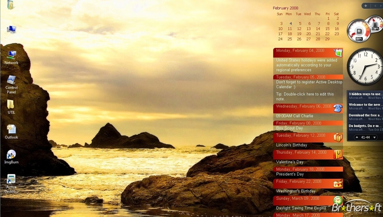 Free Download Active Desktop Calendar Download Active