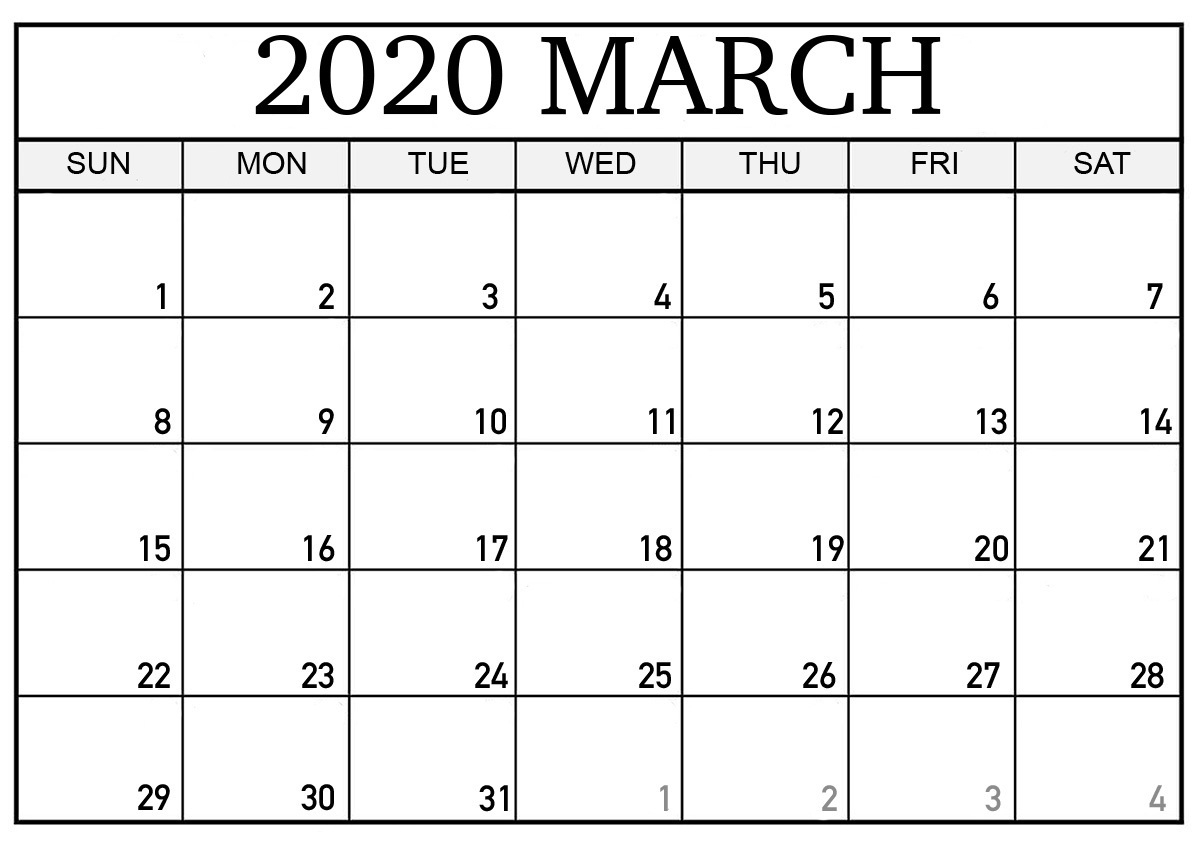 Free March 2020 Calendar Australia Printable - 2019