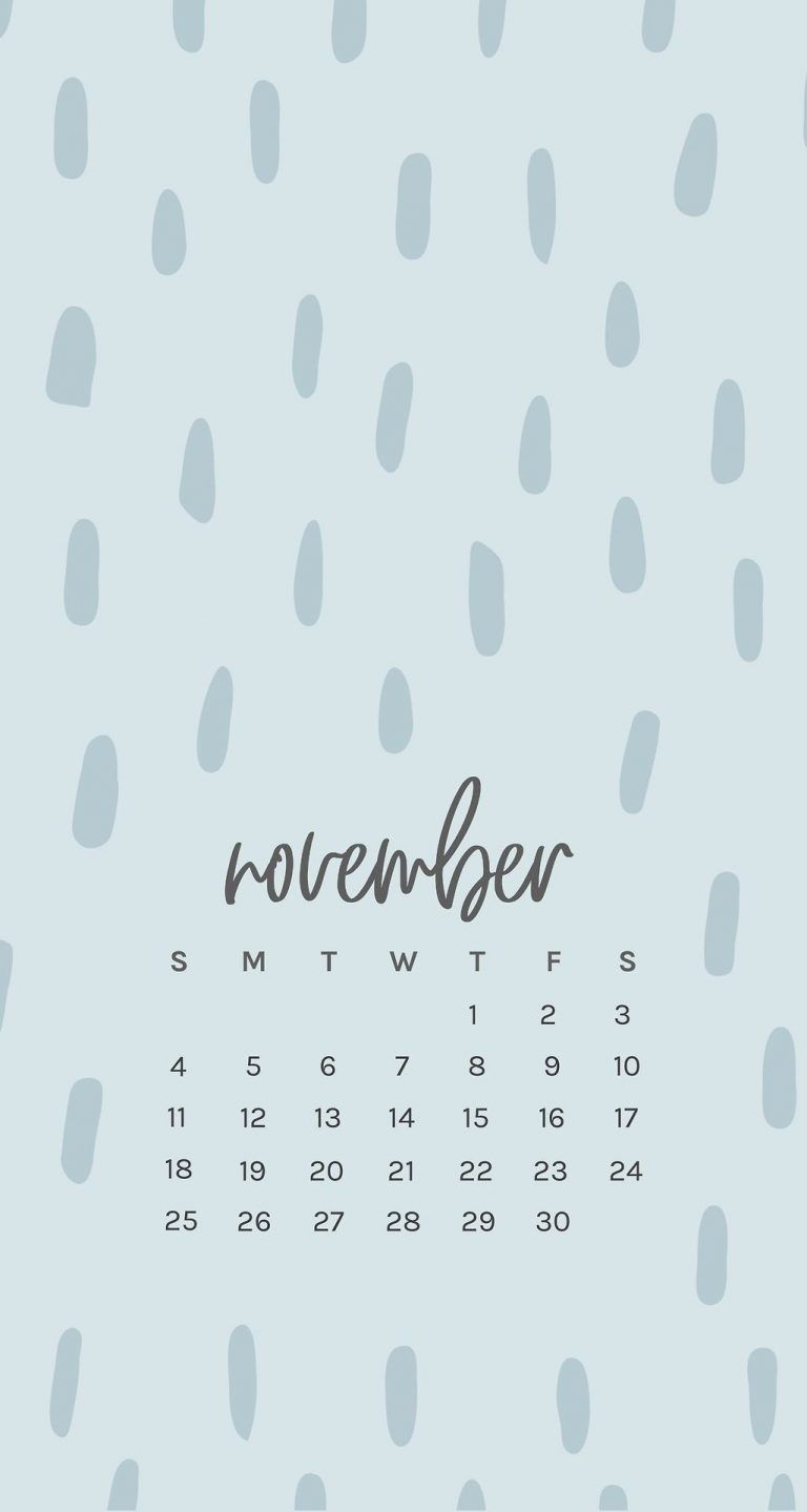 Free November 2018 Iphone Calendar Wallpapers In 2019