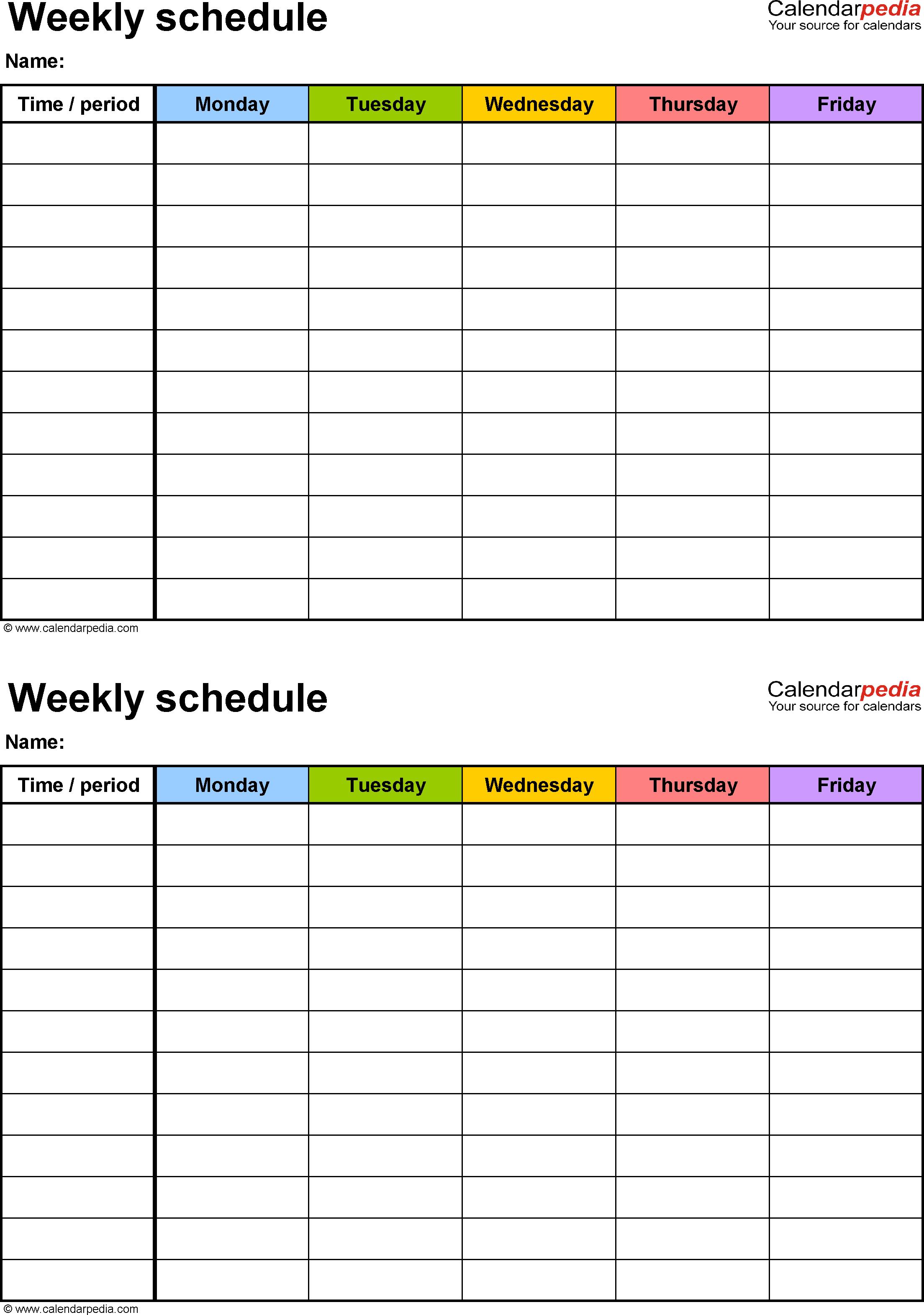 Free Printable 2 Week Calendar - Wpa.wpart.co
