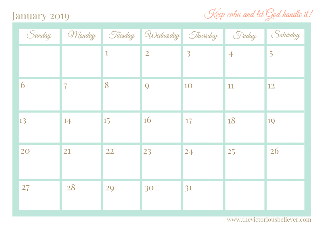 Free Printable 2020 Christian Calendar | Christian Calendar