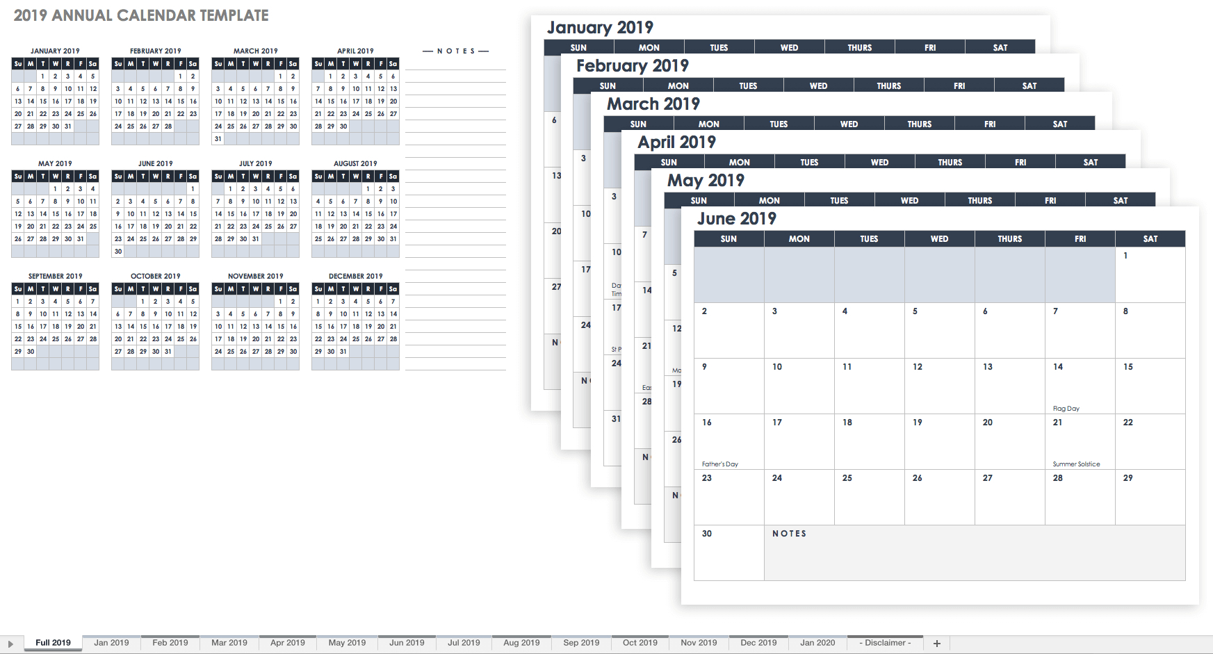 Free Printable 2020 Employee Attendance Calendar - Peri.con