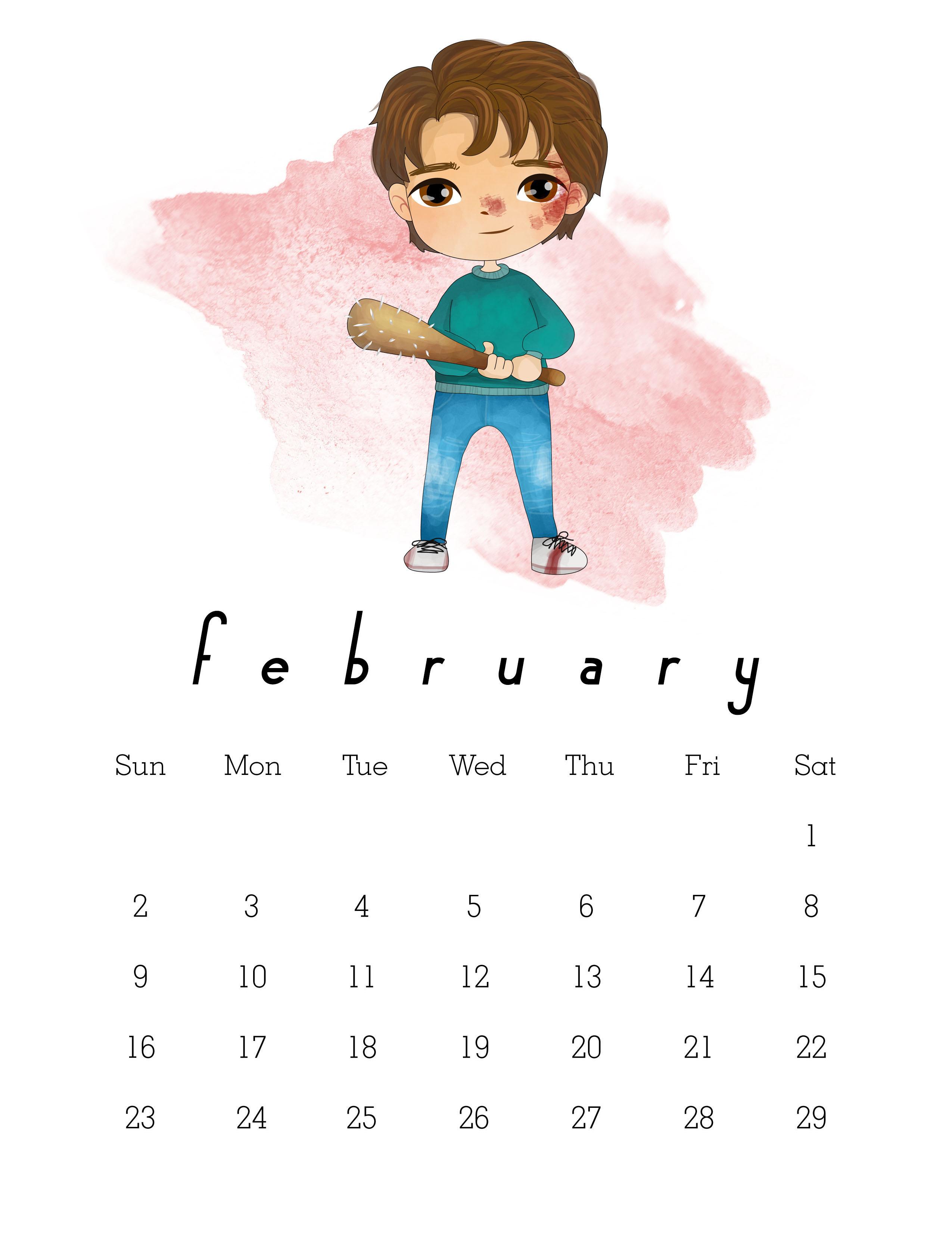 Free Printable 2020 Stranger Things Calendar - The Cottage