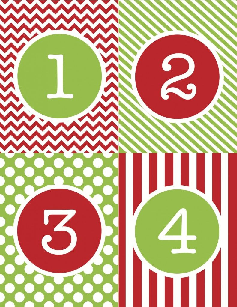 Free Printable… An Advent Calendar Just In Time For December