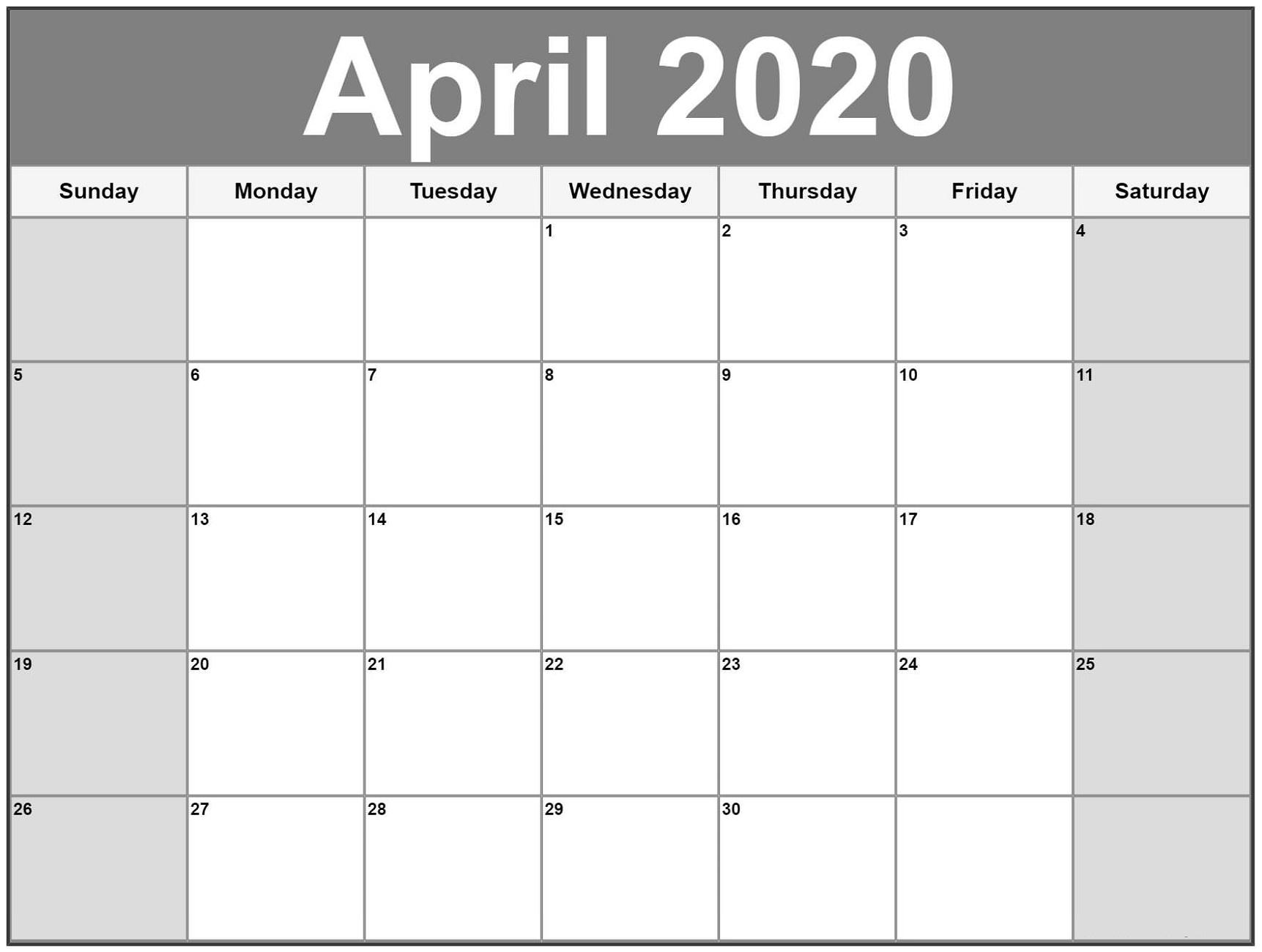 Free Printable Calendar 2020 | Calendar Shelter