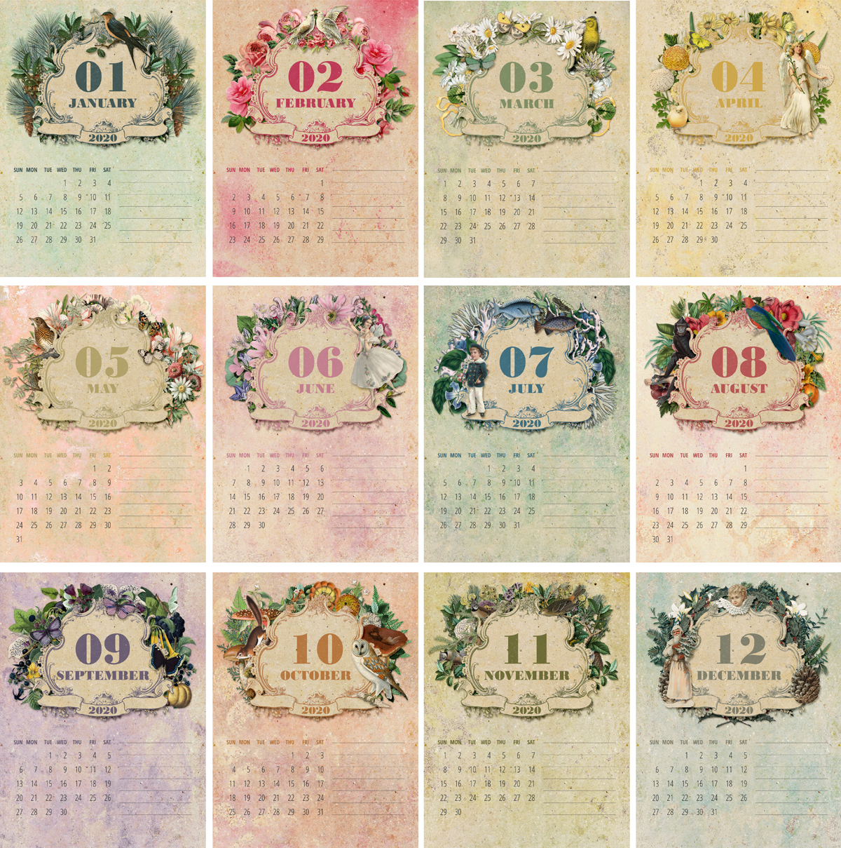 Free Printable Calendar 2020 – Cd Case Calendar! - The