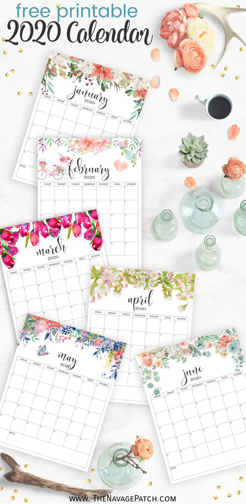 Free Printable Calendar 2020 - The Navage Patch
