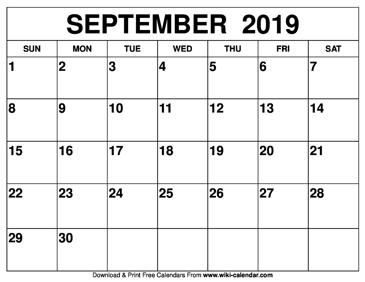 Free Printable Calendar For 2019 Or 2020-Printabe Monthly