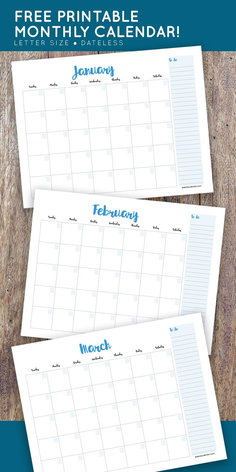 Free Printable Calendar | Free Printable Calendar, Printable