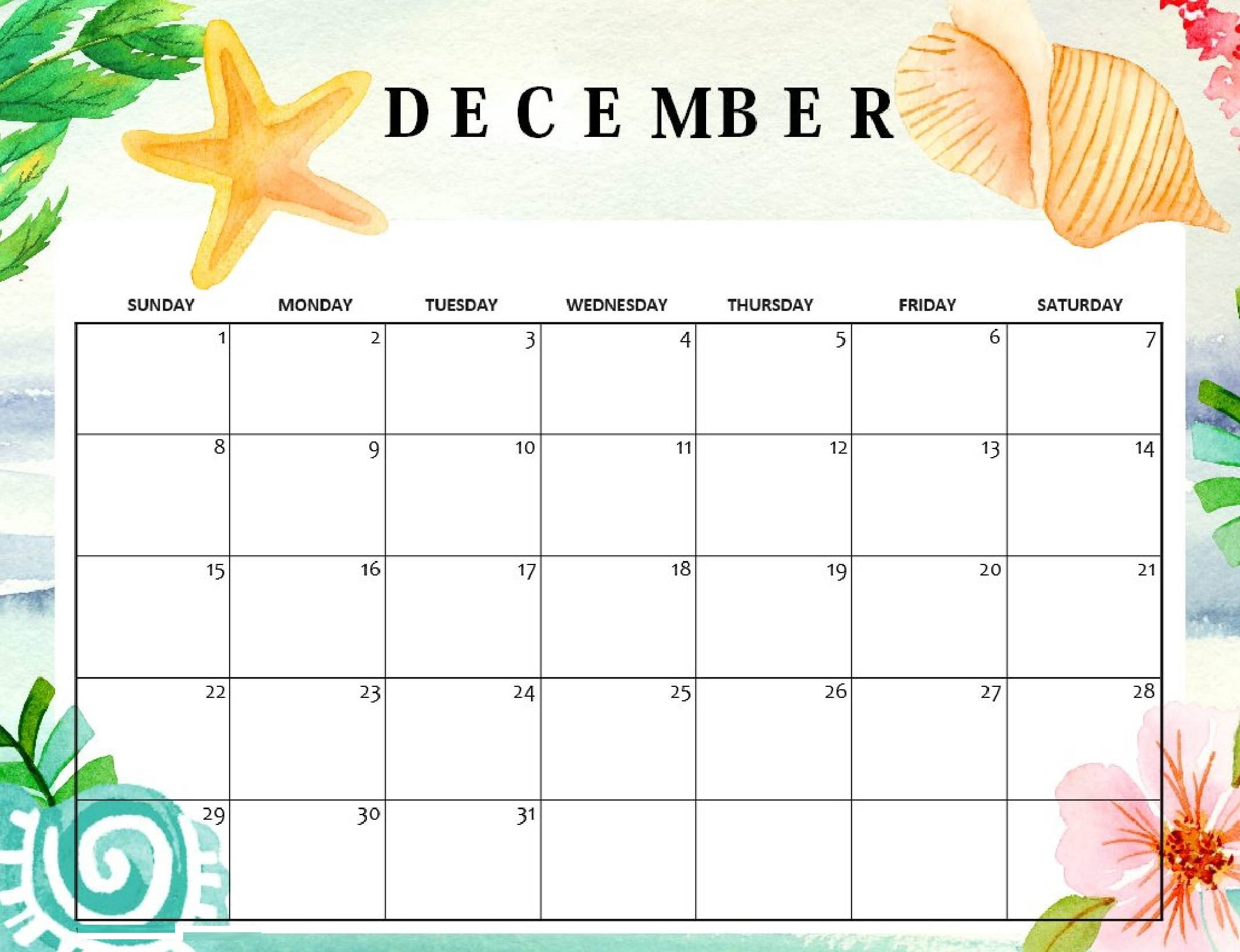 Free Printable December 2019 Calendar Excel Format - Set