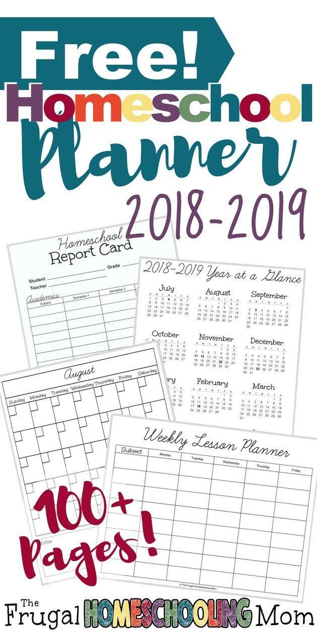 Free Printable Homeschool Planner 2018-2019 | Homeschooling