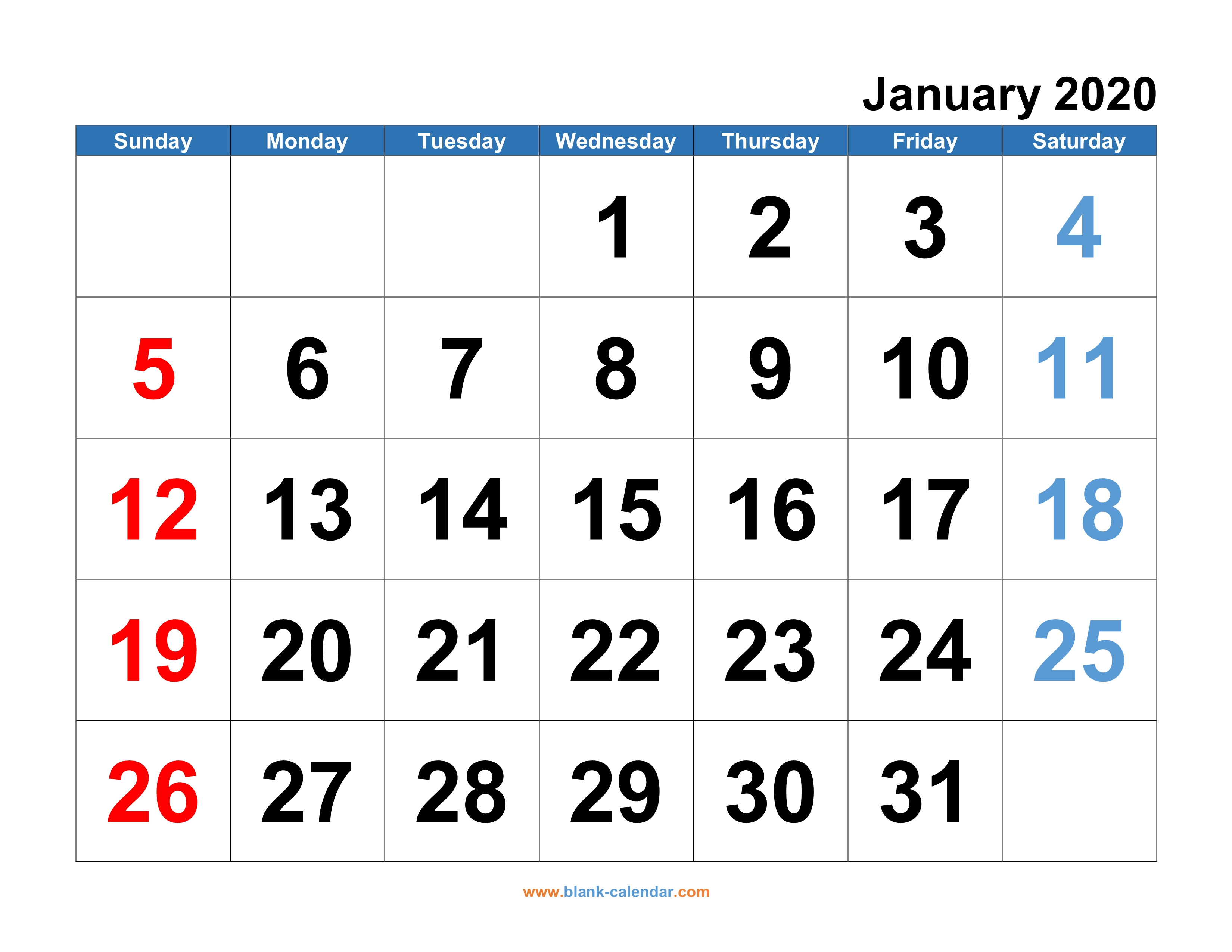 Free Printable Monthly Calendars 2020 - Wpa.wpart.co