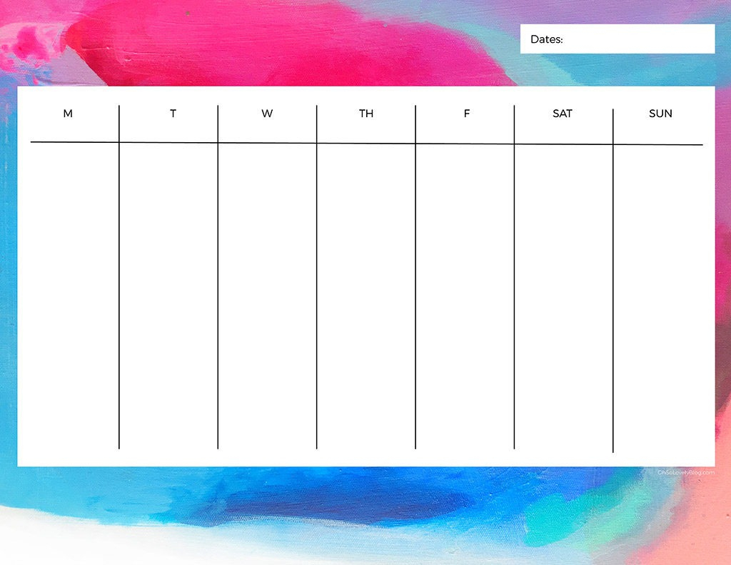 Free Printable Weekly Calendars — Get Your Week Organized!