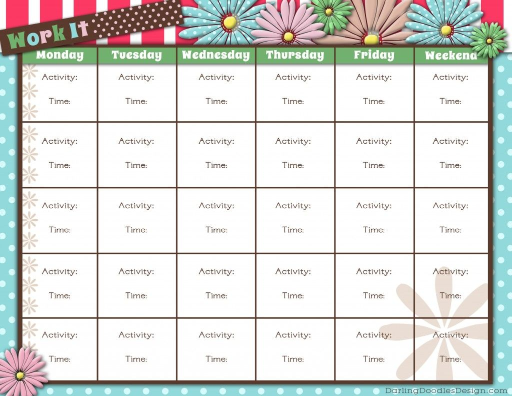 Free Printable Workout Tracker | Workout Calendar, Printable