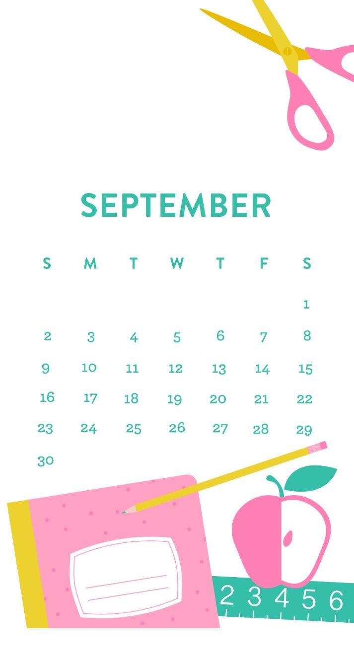 Free September 2018 Iphone Calendar | Calendar Wallpaper