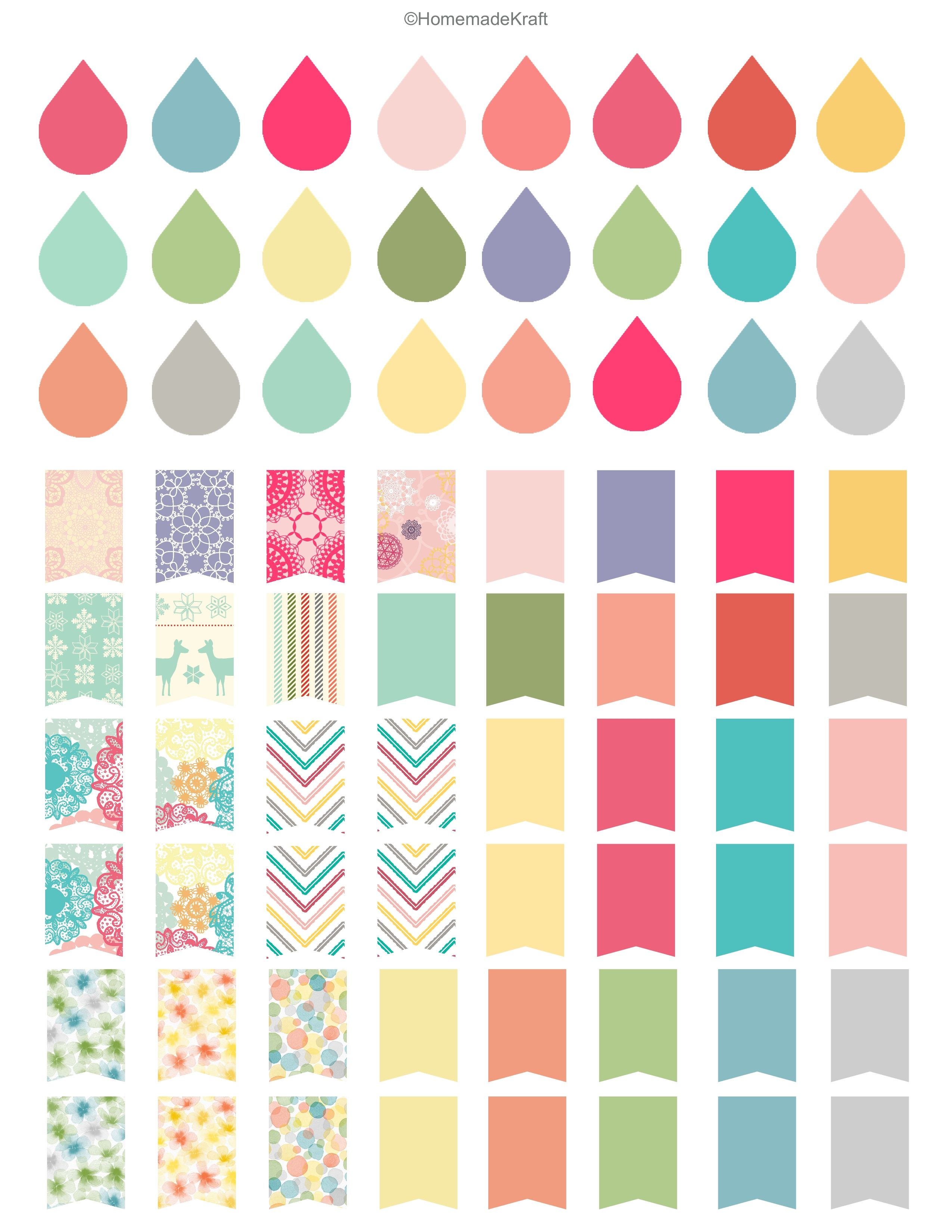 Free Sticker Printable! | Printable Planner Stickers
