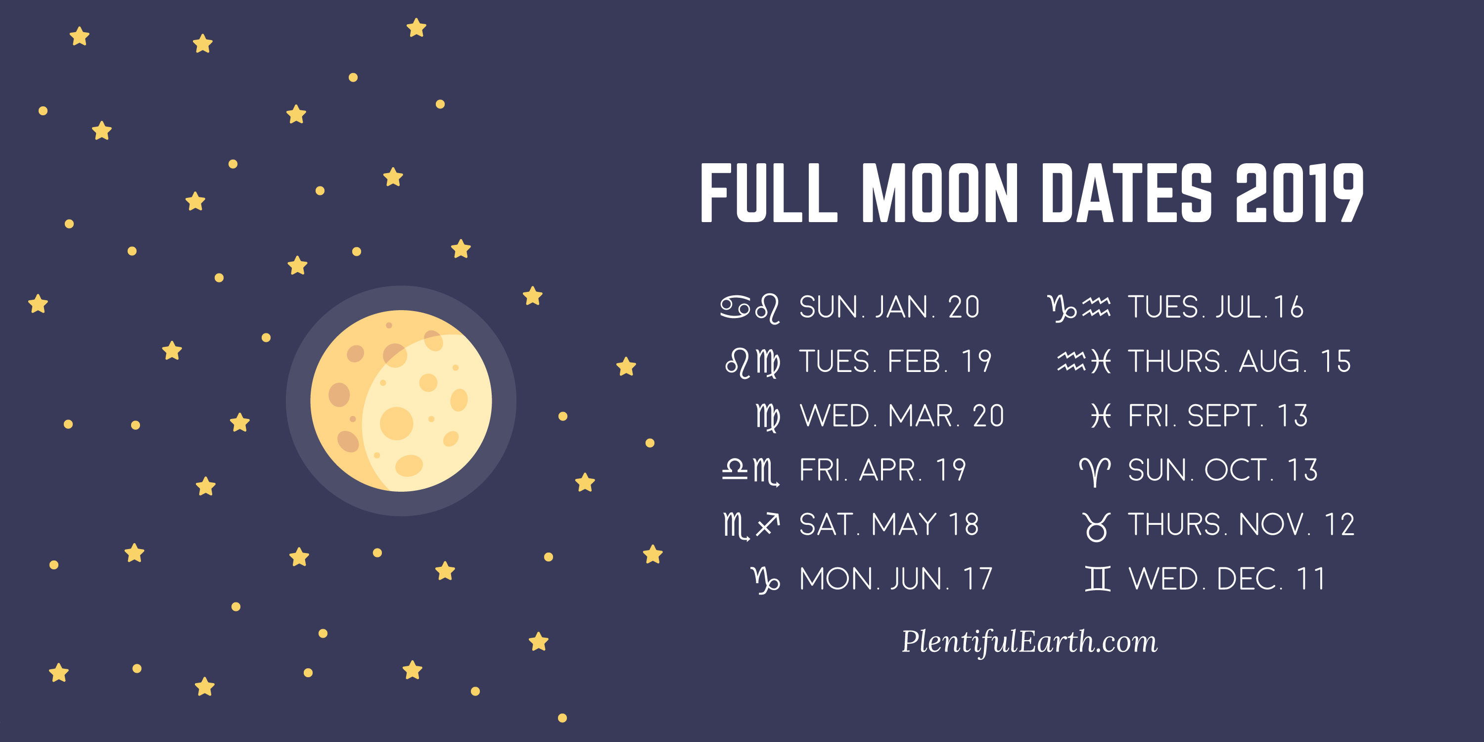 Full Moon Dates 2020 » Plentiful Earth