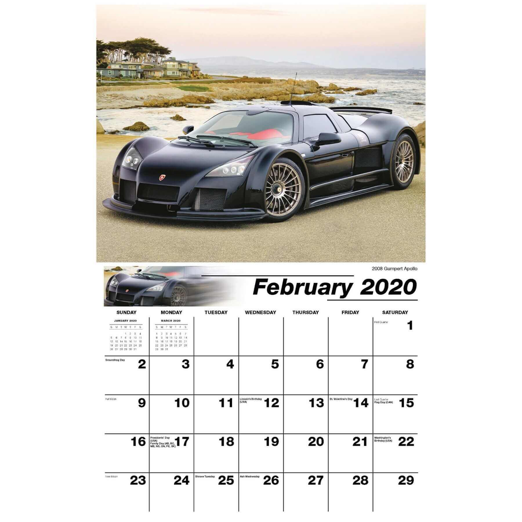 Galleria Wall Calendar 2020 Exotic Cars