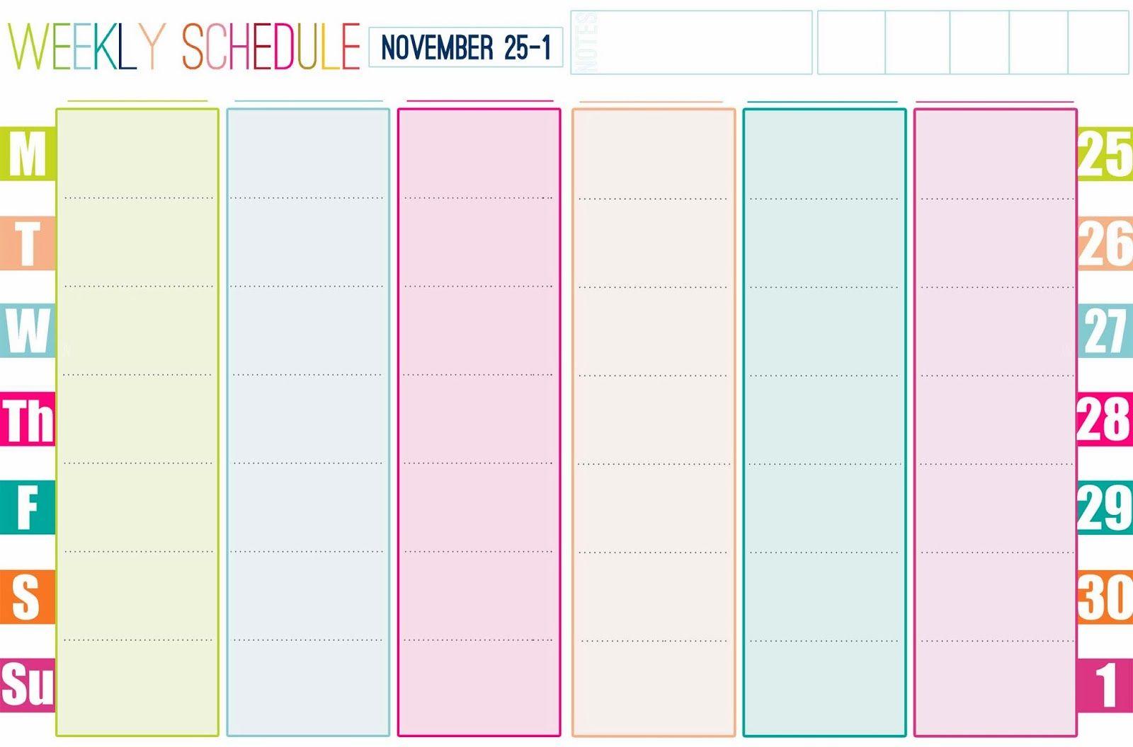 Gallery For > Free Printable Weekly Calendar Cute | Free