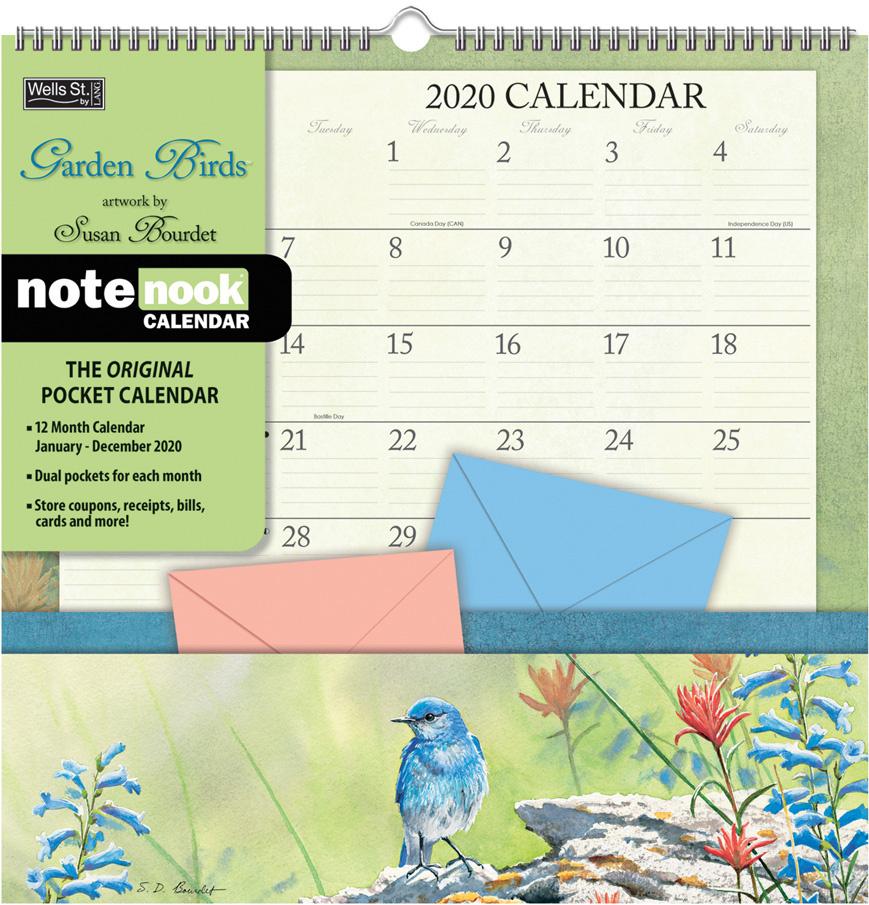 Garden Birds 2020 Note Nook Pocket Calendar