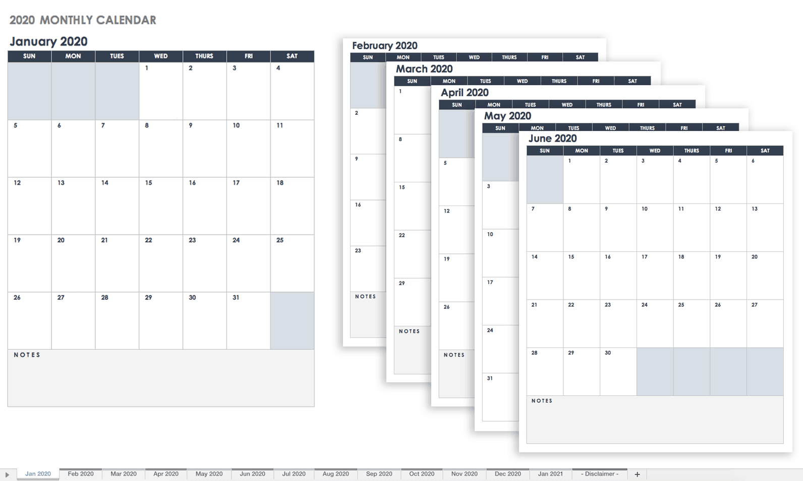 Google Calendar Template 2020 - Wpa.wpart.co