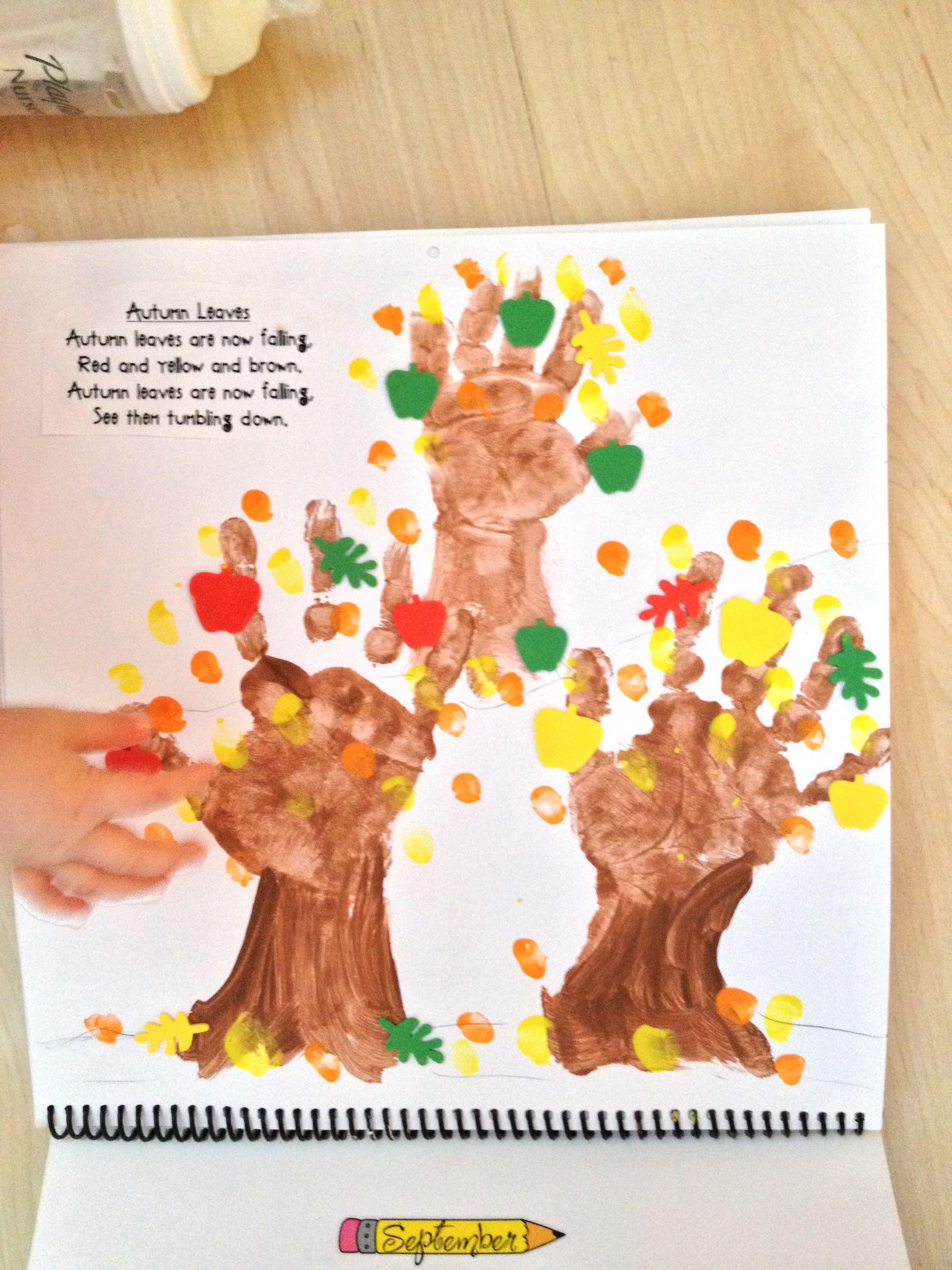 Handprint Calendar | Handprint Calendar Preschool, Preschool