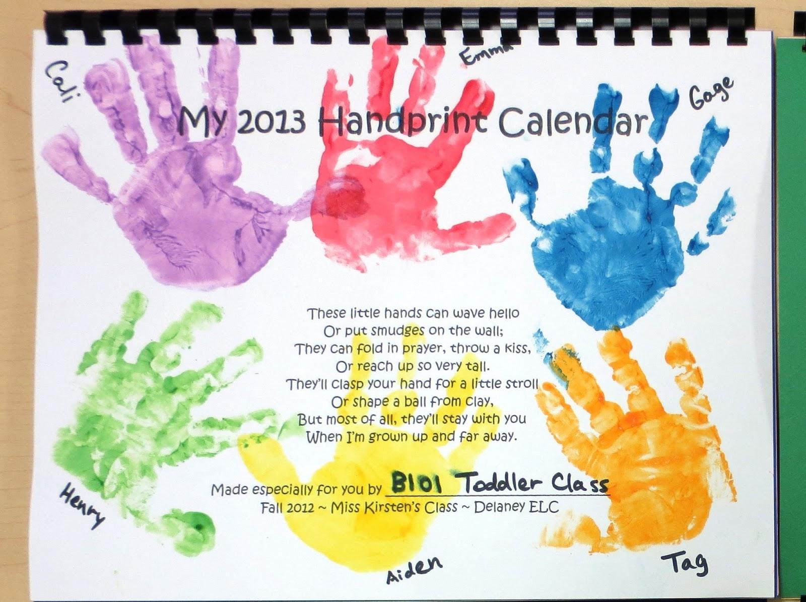 Handprint Calendar November - Wpa.wpart.co