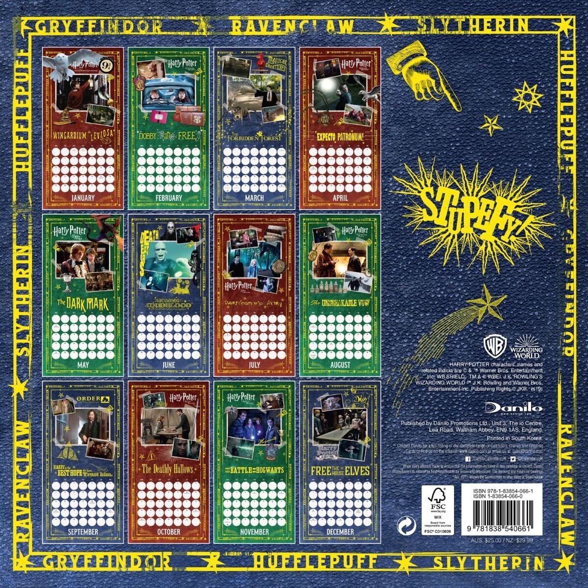 Harry Potter 2020 Square Wall Calendar