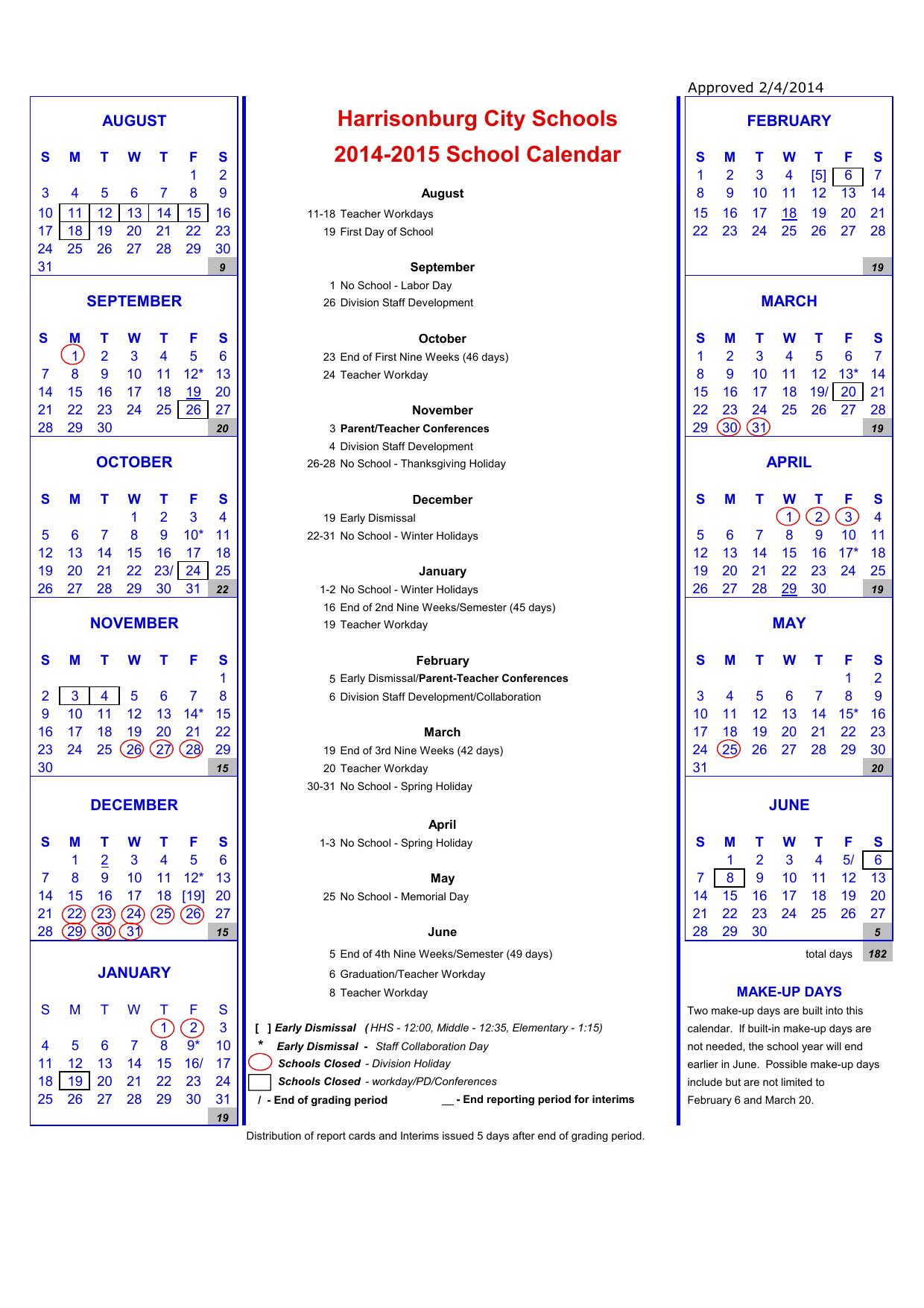 Hcps Calendar - Harrisonburg City Public Schools