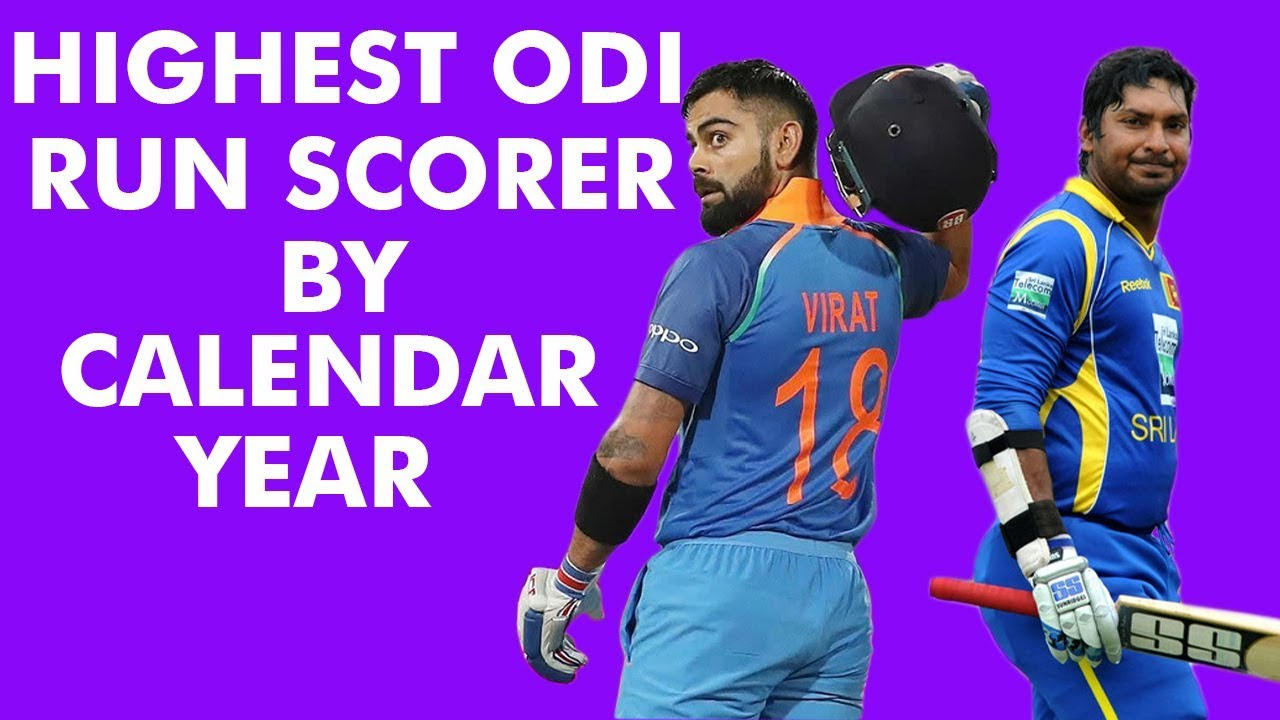 Highest Run Scorer In Odicalendar Year (2000-2018) # Odi 02
