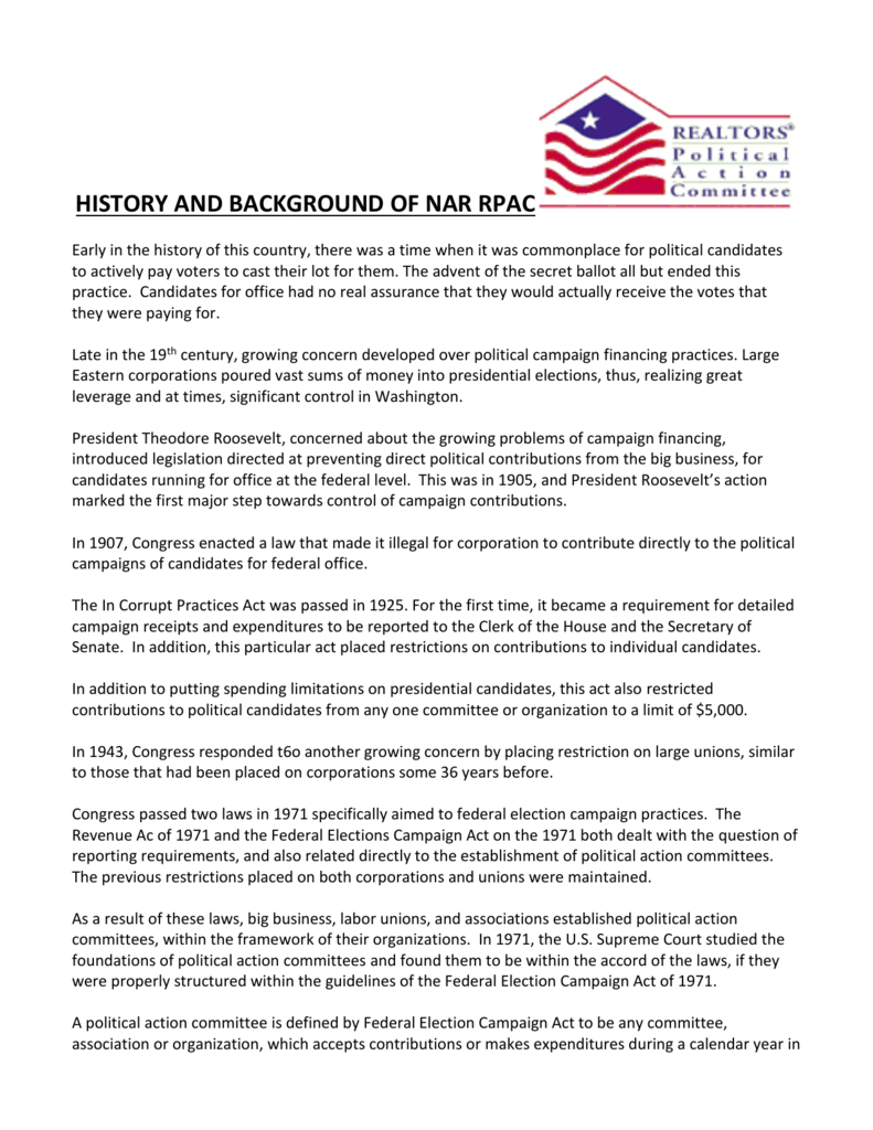History And Background Of Nar Rpac