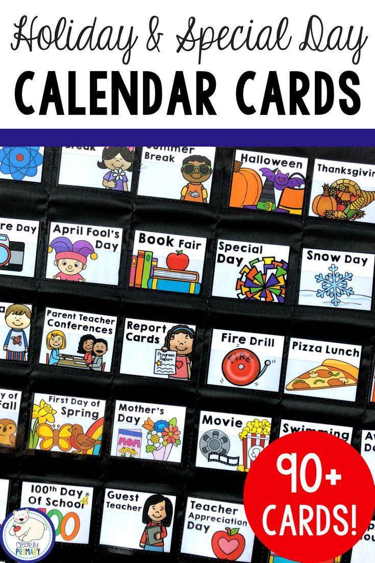 Holiday Calendar Numbers | Calendar Numbers, Preschool
