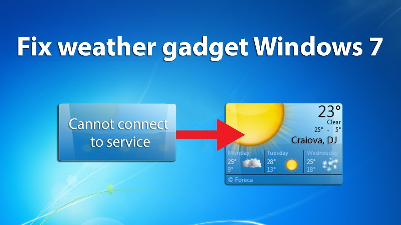 How To Fix Weather Gadget Windows 7 - Quick Fix - Youtube