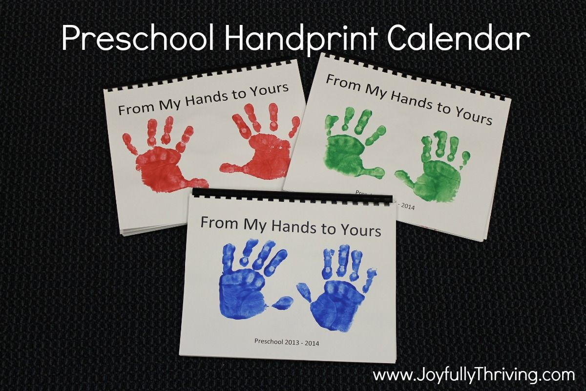 How To Make A Handprint Calendar