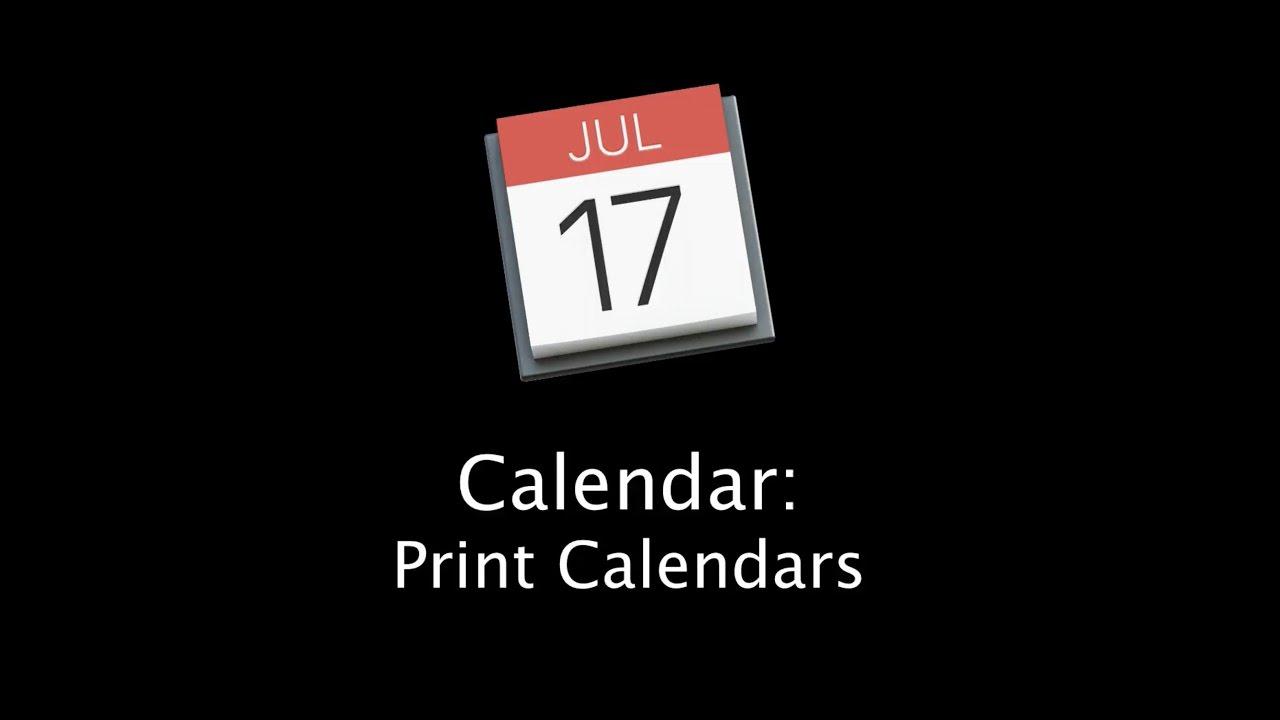 How To Print Calendars With The Mac Calendar App