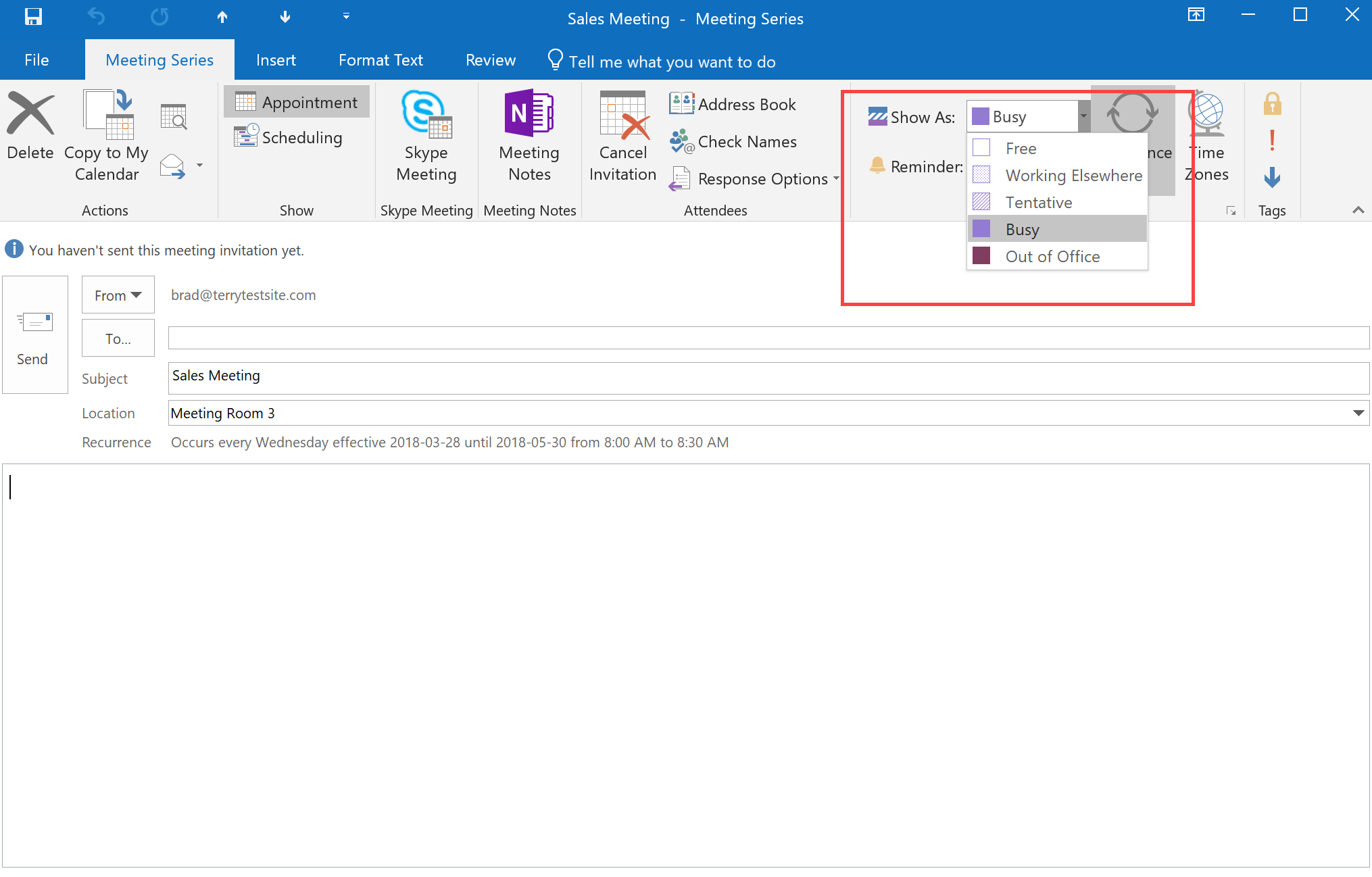 How To Schedule Appointments In Outlook 2016 - Hostpapa