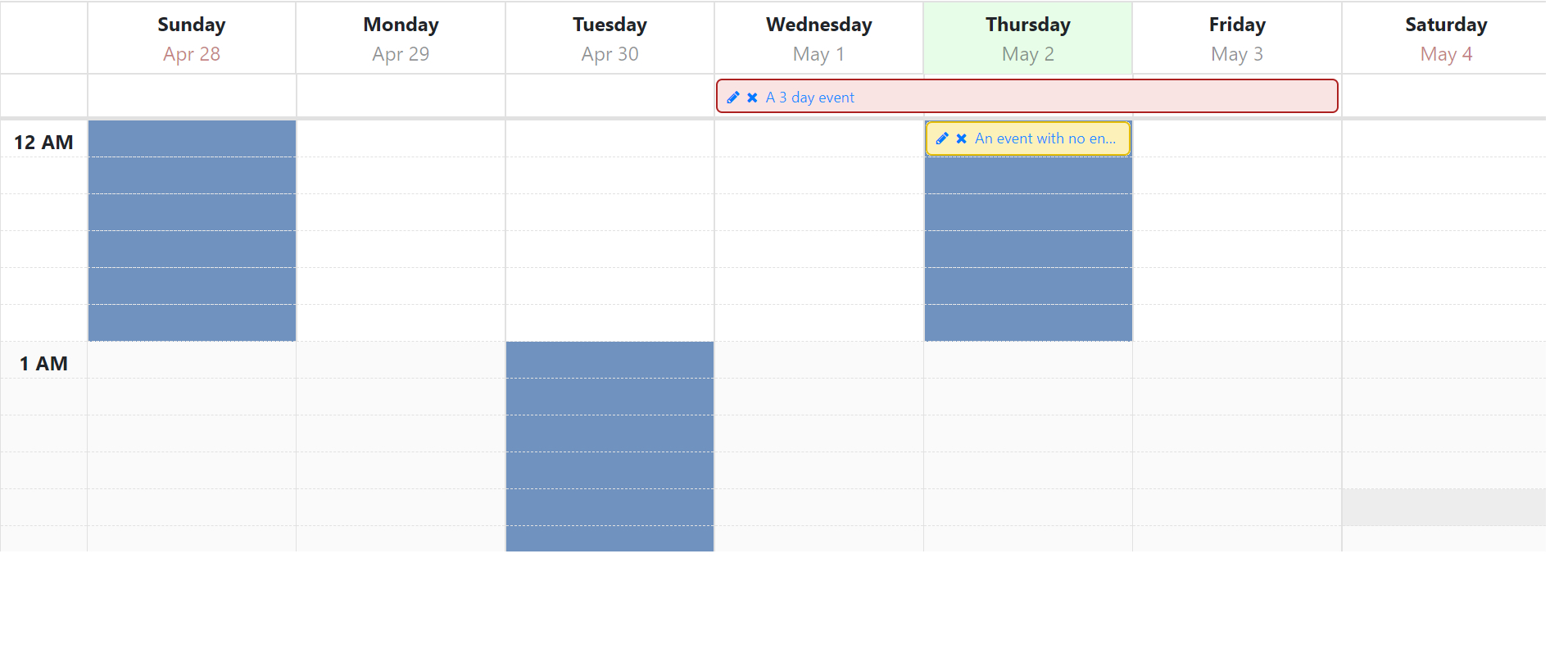 How To Use Ng-Template In Angular Calendar Week View To Show
