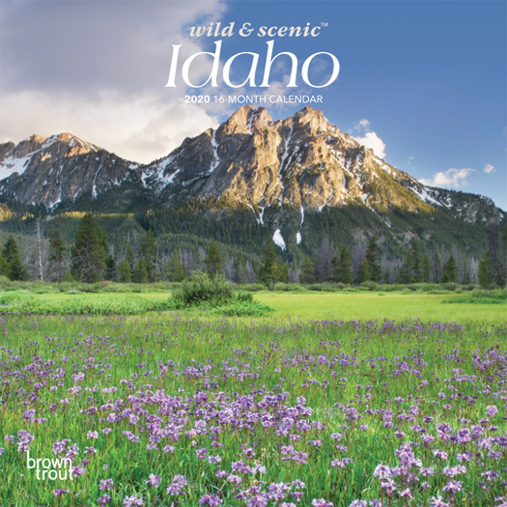 Idaho Wild & Scenic 2020 7 X 7 Inch Monthly Mini Wall Calendar