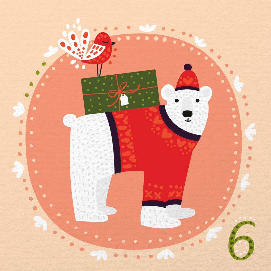 Illustrated Advent Calendar: Day 6 (Caroline Alfreds